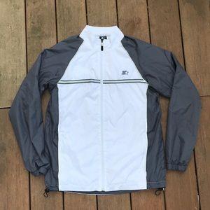 Men's Starter reflective windbreaker jacket